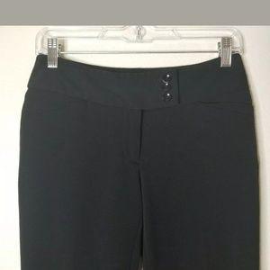 WHBM Black Legacy Modern Bootcut Dress Pants Sz 0